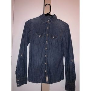 AEROPOSTALE Chambray Denim Button Up